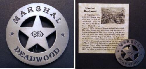 Deadwood Marshal Badge, silver, Old West, Western, Con Stapleton