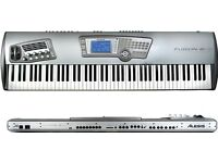 Keyboard synthesizer Alesis Fusion 8 HD workstation synth hammer action 88 keys