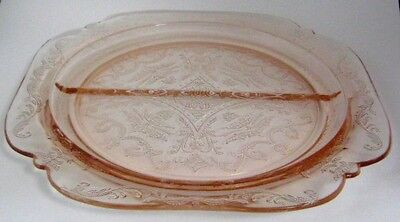 Indiana Glass Pink MADRID Recollections Divided Plate on Rummage
