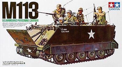 Tamiya 35040 U.S. M113 APC Armored Personnel Carrier model kit 1/35, used for sale  Providence