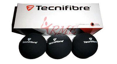 Tecnifibre Black Racquetball Balls (Box of 3)