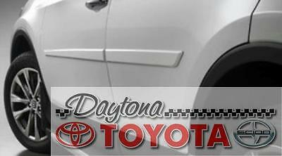2013 - 2018 RAV4 070 BLIZZARD PEARL PAINTED BODY SIDE MOLDINGS PT938-42130-20