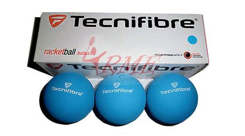 Tecnifibre Blue Racquetball Balls (Box of 3)