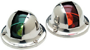 Pair-of-Stainless-Steel-Red-and-Green-Bow-Navigation-Lights-for-Boats-1-Mile
