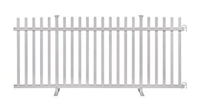 - Zippity Outdoor Products ZP19026 Lightweight Portable Vinyl Picket Fence Kit w/M