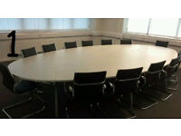 Office Meeting Boardroom Tables + black chairs good condition delivery available