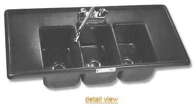 Moli 3 Compartment Drop In Sink Bhs-1736 Faucet Included