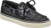 Sperry Black Glitter