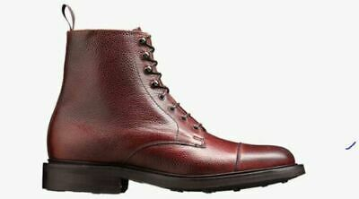 Herren handgefertigt aus echtem Leder Lace-Up Derby Toe Cap Ankle Marching Boot Herren Cap Toe Boot