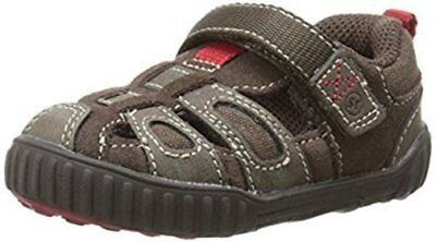 NIB STRIDE RITE Outdoor Shoes Fisherman Sandals Churchill Brown Red 4.5 M
