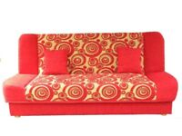 Sofa Bed SETTEE COUCH SUITE with storage AND BONELL SPRINGS MATTRESS CUSHIONS