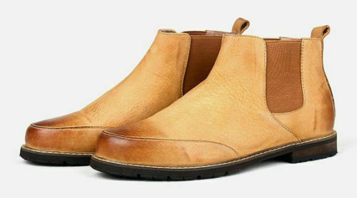 Mens Handmade Boots Derby Leather Style Skin Oxford Formal W