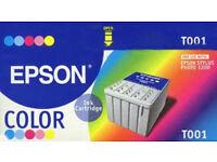 Original Epson T001 Colour Multipack For Sale - Unopened