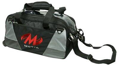 Motiv Ballistix BLACK 2 Ball Roller/Tote Bowling Bag