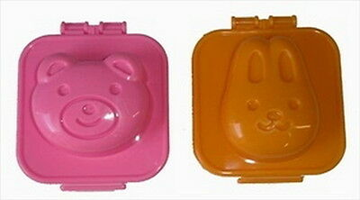 Japanese Bear & Bunny Egg Mold for Lunch Bento Box 1288