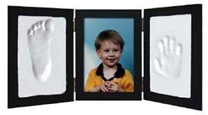 BLACK-CLAY-KEEPSAKE-PHOTO-DESKTOP-FRAME-KIT-Handprint-Footprint-Impression