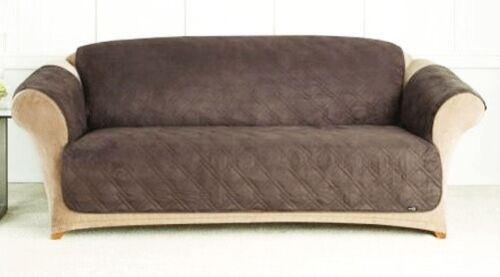 QUILTED MICROFIBER SOFA COVER CHAIR THROW PET ...