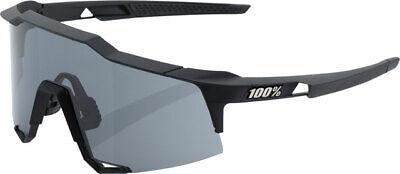 100% Speedcraft Gafas de Sol Suave Táctiles Negro Marco con Lente Ahumada