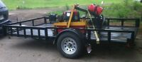 2014 UTILITY 12' DECK TRAILER 3500# AXLE, RAMPS, SIDES
