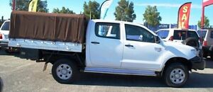2010 Toyota Hilux KUN26R MY10 SR White 5 Speed Manual Cab Chassis Bellevue Swan Area Preview