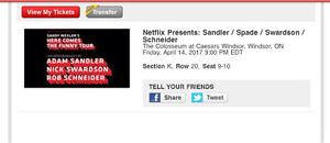 ADAM SANDLER TICKETS (2)