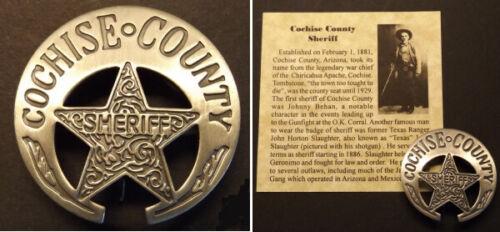 Cochise County Arizona Territory Sheriff Badge, boxed, old west, Tombstone