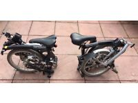 Brompton Bikes x 2 for sale