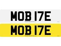 MOB 17E \MOBILE CAR REGISTRATION CHERISHED NUMBER FOR SALE