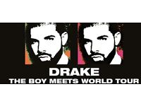 4 * DRAKE TICKETS 14TH FEBRUARY 2017 LONDON 02