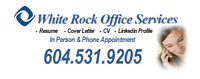 Do You Need a New Resume? White Rock Office Services Will Help!