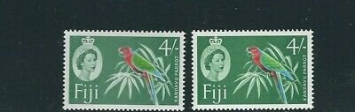 FIJI 1962-67 QEII KANDAVU PARROT (Scott 186 186b 4sh) VF MNH