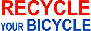 Donate your old bicycles here - WE RECYCLE IT