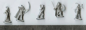 RAL PARTHA  Elf Miniature set of 5 for use in Dungeons in D&D