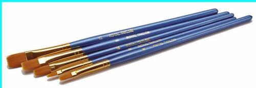Royal Value Pack F 5 pc GOLD TAKLON Paint Brush Set oils acr