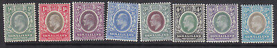 Somaliland 1905 part set to 8anna MH