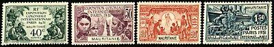 Mauritania #65-68 - 1931 Paris Exposition complete set VF MNH