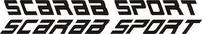 "2- SCARABSPORT decals vinyl sticker 2- 56""x6"" scarab boat boats decal"