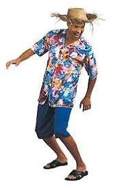MENS HAWAIIAN FANCY DRESS OUTFIT SIZE M/L GREAT FOR PARTY OR STAG DO