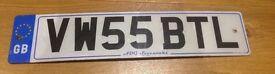 Personalised Registration VW55 BTL