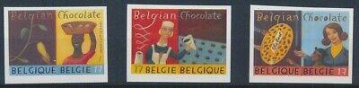 Belgien**SCHOKLOLADE-KAKAO-PRALINEN-UNGEZAEHNT 3Mkn-KW 30€-1999-Chocolate-Cacao