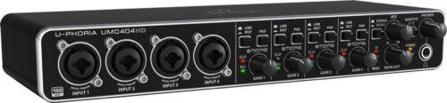 Behringer UMC404HD U-Phoria 4x4 USB Audio Interface 4-Midas mic preamps NEW