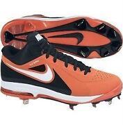 Orange Baseball Cleats