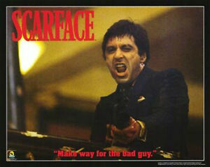 NEW SCARFACE MOVIE PLAQUE ~ MAKE WAY FOR THE BAD GUY 23x35