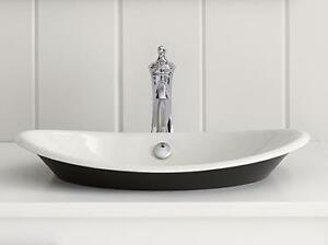 Kohler - Iron Plains® Wading Pool® oval bathroom sink with Iron Black painted underside - 12 Colors Available