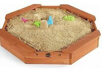 Plum Wooden sandpit with cover