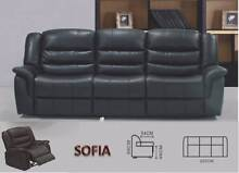 Recliner PU Leather Black/OfWhite Sofa 3RR/2RR/1RR -FREE DELIVERY Salisbury Brisbane South West Preview
