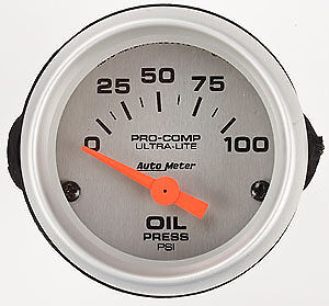Ultra-Lite Oil Pressure 0-100PSI 2 1/16''