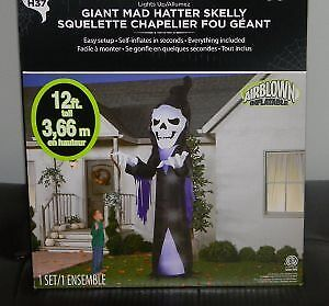 Halloween Inflatable - Mad Hatter Skelly - 12 FT - New