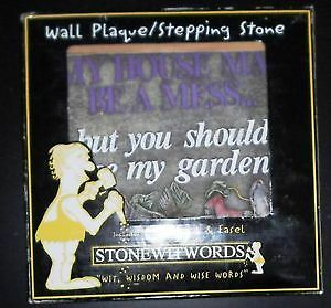 new in box whimsical stepping stone/ wall plaque (Stonewitwords)