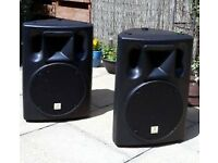 Pair of Active 2-Way Full-Range PA Speakers PERFECT CONDITION (With covers)